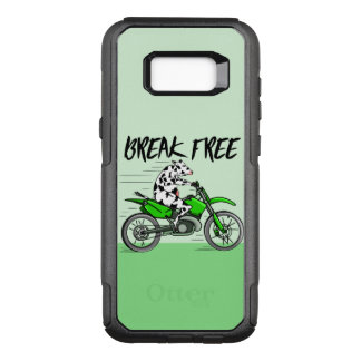 Cow riding farmers motorbike OtterBox commuter samsung galaxy s8+ case