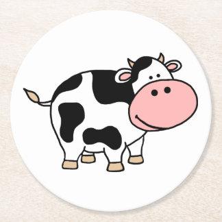 Cow Round Paper Coaster