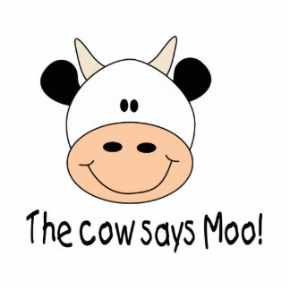 Cow Says Moo Photo Cut Outs