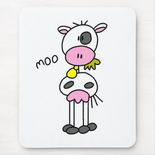Cow Says Moo Tshirts and Gifts Mouse Mat