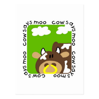 Cow Says Moo Tshirts and Gifts Postcard