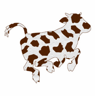 Cow Shape with Brown Spots Standing Photo Sculpture