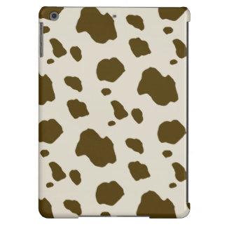 COW SKIN brown Case For iPad Air