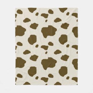 COW SKIN brown Fleece Blanket
