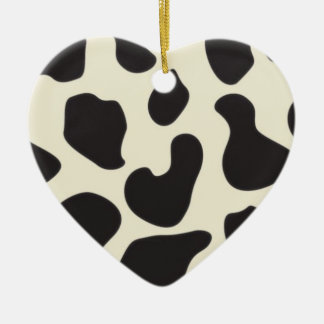 Cow Skin Cow Pattern Christmas Ornament