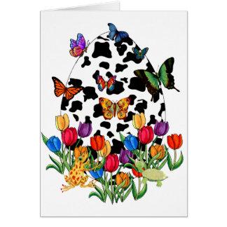Cow Skin Easter Egg Greeting Card