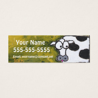 cow skinny business cards
