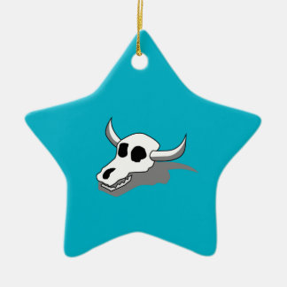 Cow Skull Bones Christmas Ornament
