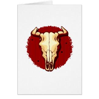 Cow Skull Card