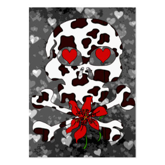 Cow Skull Valentine Large Business Cards (Pack Of 100)