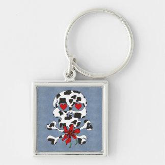 Cow Skull Valentine Keychains