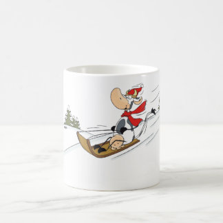 Cow sled riding Mug