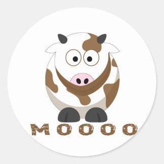 Cow sound round sticker