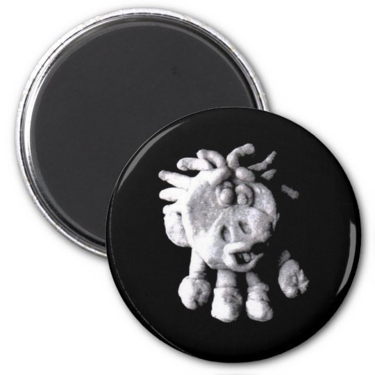 COW SOW  (magnet) 6 Cm Round Magnet
