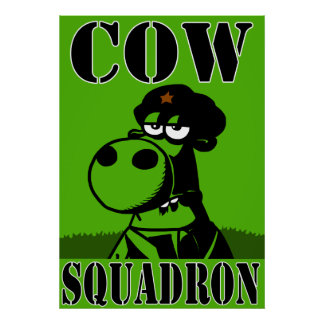 Cow Squadron Poster