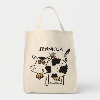 Cow Grocery Tote Bag