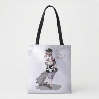 COW TRAVEL All-Over-Print Tote Bag MEDIUM