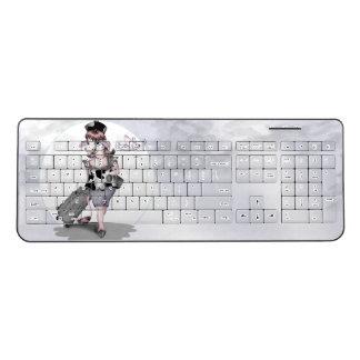 COW TRAVEL Custom Wireless Keyboard 2