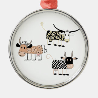 Cow Trio Christmas Ornament