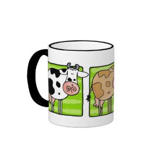 cow trio ringer mug