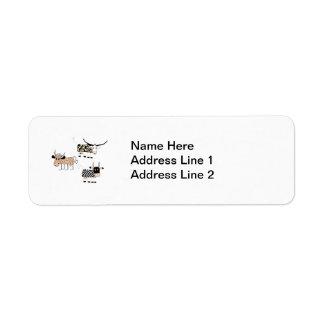 Cow Trio Return Address Label