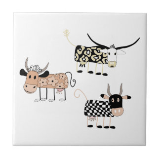 Cow Trio Tile