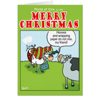 Cow vs Wrapping Paper Card