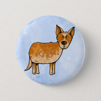 cow whisperer 6 cm round badge