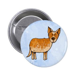 cow whisperer 6 cm round badge