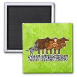 cow whisperer square magnet