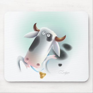 cow with bell mouse mat