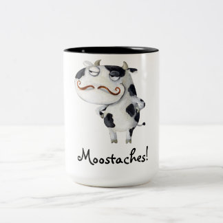 Cow with Mustaches Mug