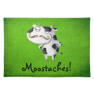 Cow with Mustaches Placemat