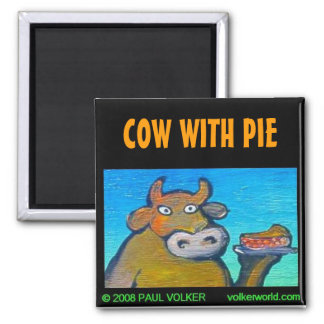 COW WITH PIE $3.00 MAGNET