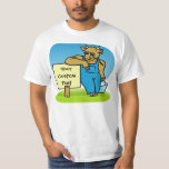 Cow with sign tees