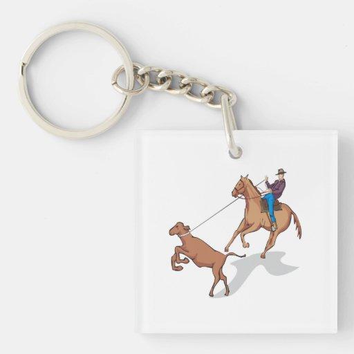 Cow Wrangling 2 Keychain