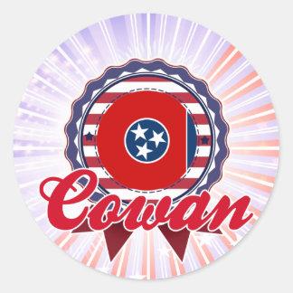 Cowan, TN Round Stickers