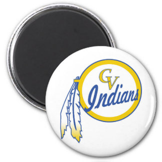 Cowanesque Valley Youth Football Indians 6 Cm Round Magnet