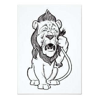 Cowardly Lion 13 Cm X 18 Cm Invitation Card