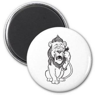 Cowardly Lion 6 Cm Round Magnet