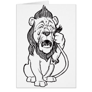 Cowardly Lion Greeting Cards