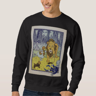 Cowardly Lion Vintage Illustration Sweatshirt