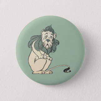 Cowardly Lion, Wizard of Oz 6 Cm Round Badge