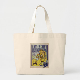 Cowardly Lion Wizard of Oz Book Page Bag