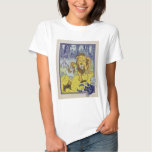 Cowardly Lion Wizard of Oz Book Page Shirts