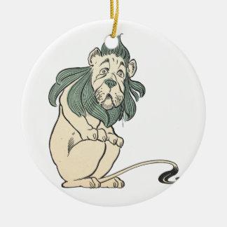 Cowardly Lion, Wizard of Oz Round Ceramic Decoration