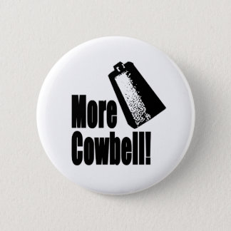 Cowbell 6 Cm Round Badge