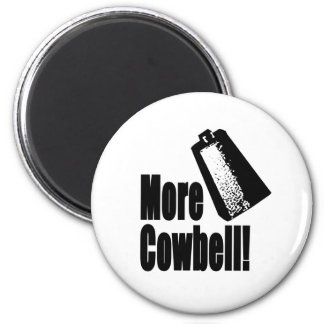 Cowbell 6 Cm Round Magnet