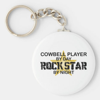Cowbell Player Rock Star by Night Key Ring