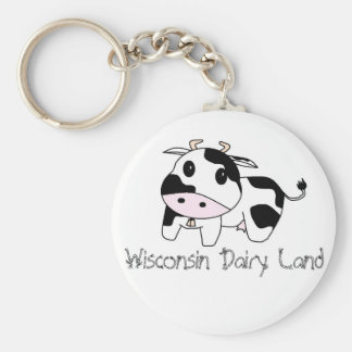 cowbell, Wisconsin Dairy Land Key Ring